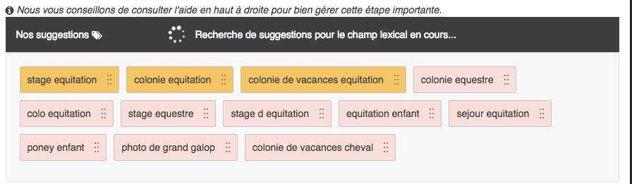 moteur de suggestion de champ lexical optimiz