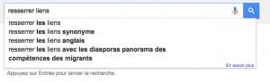 Google suggest migrants