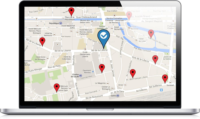 analyse du positionnement local sur moteurs de recherche
