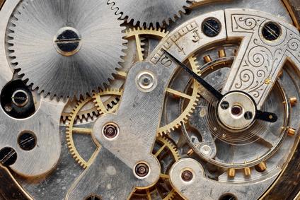 horloge et rouages
