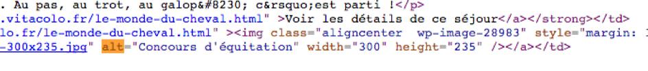 balise alt dans code source