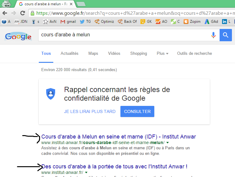 gain de position google