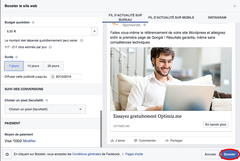 guide publicité Facebook