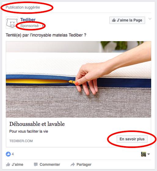 Comment reconnaître une publicité sur Facebook
