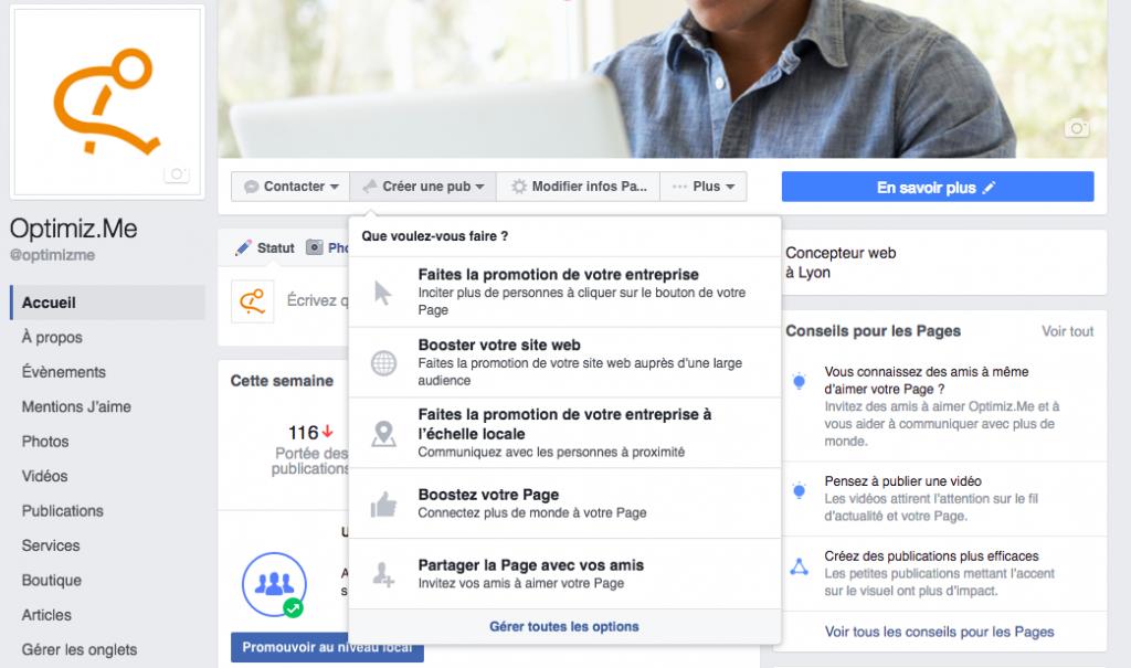 comment créer un pub sur Facebook