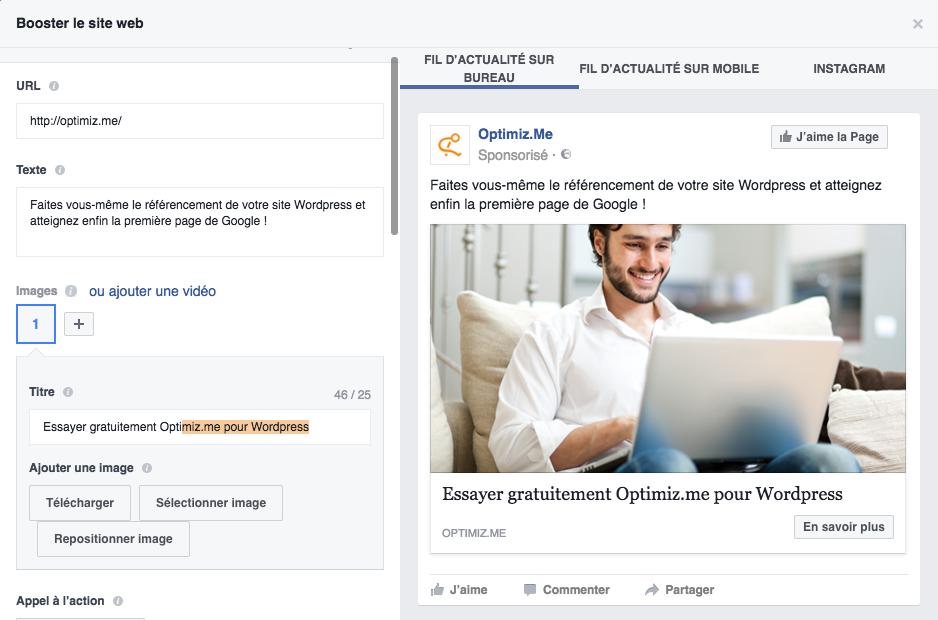 créer une publicité sur Facebook facilement