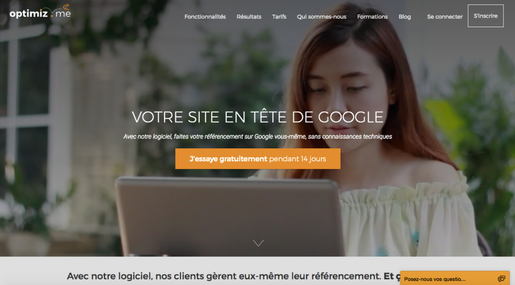 exemple de call to action sur landing page