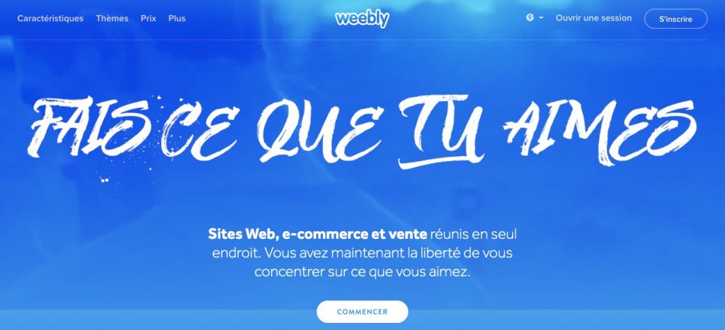 weebly un cms facile