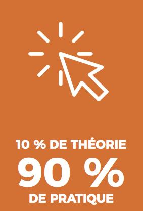 10% de théorie, 90% de pratique