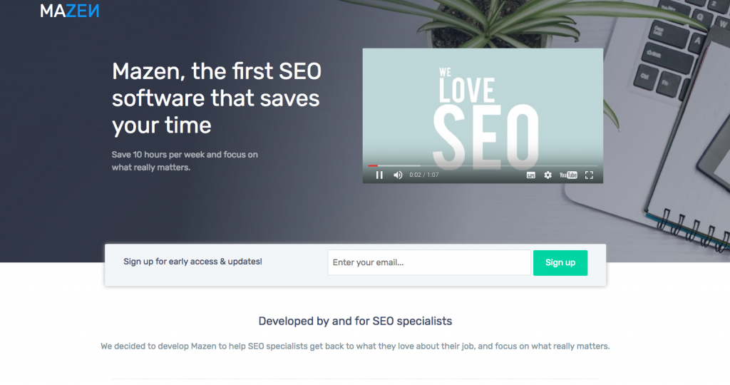 Mazen, the new SEO Software by Optimiz.me