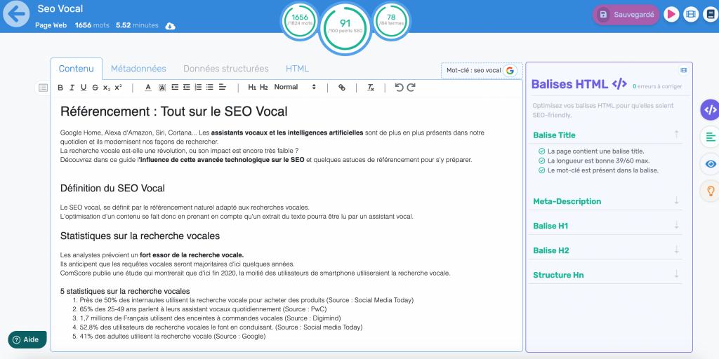 logiciel de redaction pour strategie de referencement